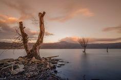 Three - Sunset on the lake