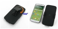 PDair Rubberized Case Combo Holster for Samsung Galaxy S4 SIV LTE GT-i9500 GT-i9505 (Black)