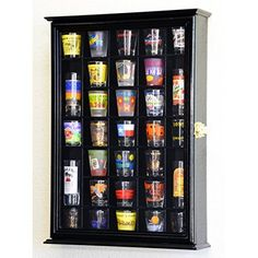 108 Shot Glass Shooter Display Case Holder Cabinet Wall Rack w/ UV Protection…