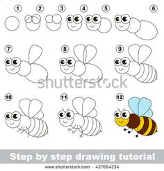 Simple drawing for kid simple kids drawing drawing tutorial for children easy educational kid game simple . Drawing Lessons For Kids, Easy Drawings For Kids, Art Lessons, Cartoon Drawing Tutorial, Cartoon Drawings, Art Drawings, Artists For Kids, Art For Kids, Bee Drawing