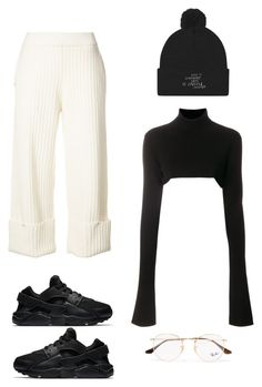 """""""Untitled #435"""" by fa-ye ❤ liked on Polyvore featuring Opening Ceremony, NIKE, Ann Demeulemeester and Ray-Ban"""