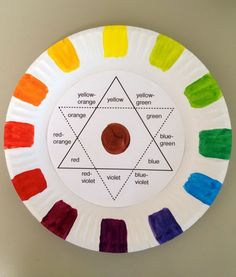 Making this paper plate color wheel teaches students how to mix the colors they want while learning the basics of color theory.   http://hative.com/creative-color-wheel-project-ideas/