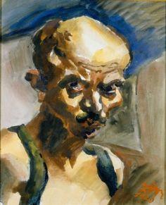 """Ludwig Meidner, """"Selbstbildnis"""" von 1920"""