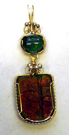 tips on pricing your wire jewelry (image: opal ammolite)