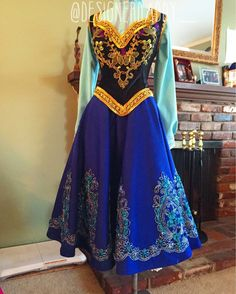 Now the cloak, hat, gloves, and Bloomers? Princess Dress Up, Disney Princess Dresses, Princess Costumes, Robes Disney, Disney Dress Up, Anna Costume, Frozen Costume, Fairytale Gown, Fairytale Fashion