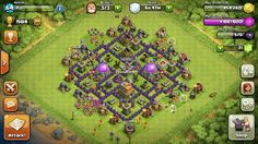 Maxed out Clash of Clans Town Hall 7 base
