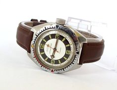 Vintage Men's Wristwatch Old Watches, Vintage Watches, Russian Men, 200m, Mechanical Watch, Watch Brands, Vintage Men, Two By Two, Product Launch