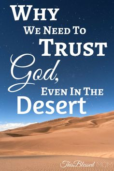 Has your faith been shaken? Are you questioning The Lord's plans for you? Here's why you need to follow God's lead through the desert, and trust that He will bring you through.