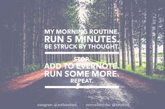 have runner's attention disorder. Or maybe I'm just an #entrepreneur.