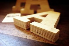 wood letters 2014 by www.mr-cup.com