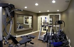 Jim & Gina's Basement - traditional - home gym - chicago - Sebring Services