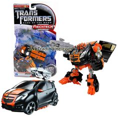 """Hasbro Year 2010 Transformers Movie Series 3 """"Dark of the Moon"""" Deluxe Class 6 Inch Tall Robot Action Figure with MechTech Weapon System - Autobot MUDFLAP with Blaster that Converts to Cybertronian Battle Axe (Vehicle Mode: Chevy SPARK Concept)"""