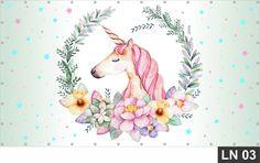 Painel de Aniversário Unicórnio 2,00x1,00 Festa Decoração no Elo7 | DECORESTOCK (ABC6B1) Aniversario Peppa Pig, Unicorn Birthday Invitations, Decoupage, Moose Art, Animals, Baby, Unicorn Birthday, Party, Unicorn