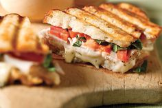 Here's everything you love about bruschetta, grilled into a tasty turkey panini. If you start now, you can enjoy it in just 10 minutes!