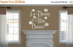 VACATION SALE Christmas Decal I'm Dreaming por RoyceLaneCreations