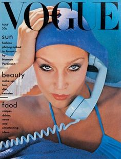 Texan Jerry Hall on the cover of Vogue May 1975.  ... www.fashion.net