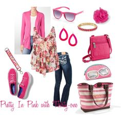 Pretty in Pink with Thirty-one so contact Ashley @ www.mythirtyone.com/307721 or join her on her FB @  Ashley's 31  The Pink Tote is Great for the Beach or Baby Bag it's just what you need.  Thanks