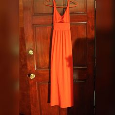 For Sale: LOFT Red Orange Maxi Dress for $13