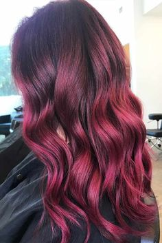 Burgundy Hair Colors for Winter Holidays Picture 1