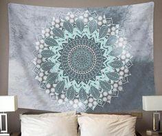 Dark mandala tapestry - dorm room tapestries