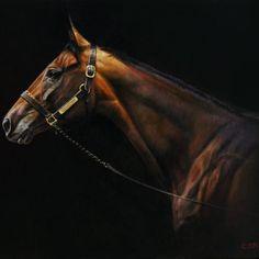 Race Horse Breeds, American Pharoah, Horse Illustration, Master Of Fine Arts, Equine Art, Horse Art, Fine Art Gallery, Animal Drawings, Japanese Art