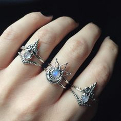 Drooling over the new Rainbow Moonstone Mehndi & Sacred Temple rings! They stack perfectly with the beaded moon & beaded chevron rings Available now at www.emptycasket.co.uk✨✨✨ #emptycasket...