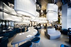 Best Considerations to Build Good Fast Food Restaurant Design Ideas Fast Food Restaurant, Restaurant Design, Sushi Bar Design, Best Fast Food, Sushi Restaurants, Lights, Table Decorations, Building, Interior