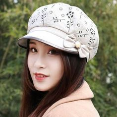 Spring summer Floral newsboy caps with bow womens sun hats 59829a47ad9