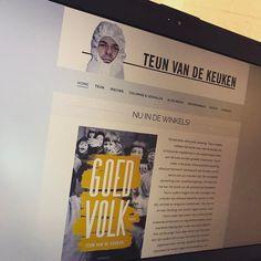Deze klant van mij heeft een nieuw boek 'Goed volk' uitgebracht. Daar moet uiteraard direct even melding van worden gemaakt op zijn website!