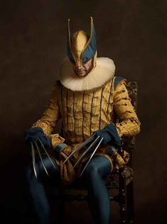 Elizabethan Superheroes And Star Wars Characters By Sacha Goldberger Part 2 Comic Kunst, Comic Art, Rembrandt, Sacha Goldberger, D Jango, Bd Comics, American Comics, Star Wars Characters, Illustrations