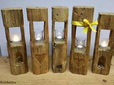 Exclusive wooden / lanterns / old wooden tables: ResAnDes - Historis . Wood Crafts, Diy And Crafts, Log Projects, Wooden Lanterns, Log Furniture, Rustic Lighting, Wooden Tables, Wood Pallets, Candle Sconces