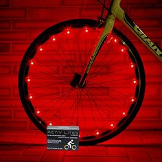 Super Cool Red LED Bike Wheel Lights Set Get Bright Bicycle Rims Spokes More Visibility Than Just Front and Back Lighting Fast Easy Install Batteries Included 100 -- Check out the image by visiting the link. Bicycle Rims, Bicycle Wheel, Bicycle Lights, Bicycle Pedals, Good Birthday Presents, Birthday Gifts For Boys, Cool Bicycles, Cool Bikes, Christmas Ideas For Him
