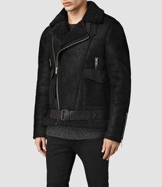 Mens Takoma Shearling Jacket (Black) | ALLSAINTS.com