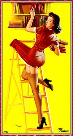 Art Frahm Vintage Pin Up Girl Illustration shared for the love of pin up by http://thepinuppodcast.com.