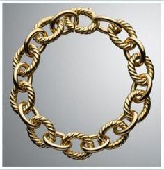Large Oval Link Chain Bracelet by David Yurman at Neiman Marcus. Diamond Bracelets, Link Bracelets, Yurman Bracelet, David Yurman, Gold Chains, Neiman Marcus, Fashion Jewelry, Bling, Vii