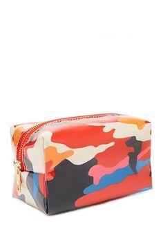 5e84b61604 Camo Print Makeup Bag Cosmetic Pouch, Printed Bags, Camo Print, F21, Bag