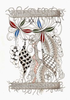 Shelly Beauch - Hanging.jpg (1130×1600) *Original ink drawing by Michele Beauchamp using the Zentangle Art Method.***