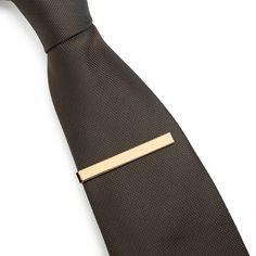 3 Pc Mens Tie Bar Pinch Clip Set 2.1 Inch, Silver, Black & Gold