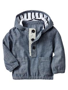 Chambray popover jacket. for the trendy little man.