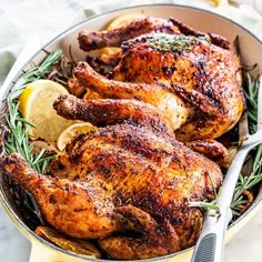 Creamed Spinach - Jo Cooks Roasted Cornish Hen, Cornish Hen Recipe, Cornish Hens, Oven Baked Chicken Thighs, Baked Chicken Breast, Roasted Mushrooms, Roasted Turkey, Ranch Pork Chops, Jo Cooks