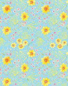 Sunshine Collection - Jasmine in Aqua by Dena™ Designs for Free Spirit Fabrics