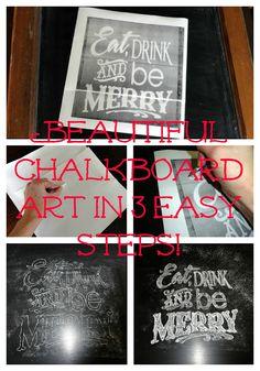 Easy chalkboard typography art tutorial