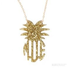 Discover a huge array of customizable necklaces, rings, bracelets and gifts in gold and silver at Marleylilly. Monogram Jewelry, Monogram Necklace, Ring Necklace, Pineapple Jewelry, Pineapple Necklace, Jewelry Tattoo, Body Jewelry, Pineapple Monogram, Marley Lilly