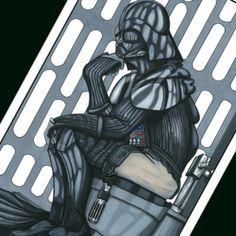 Darth Vader Thinker Art - Star Wars Art #starwars #darthvader #decor