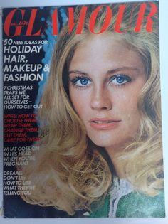 Vintage Glamour Magazine December 1970 Cybill Shepherd Cover, Lauren Hutton Bikini Spread