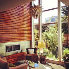 Tall ceilings, modern detailing in Bernal Heights. #sanfranciscorealestate #realestate