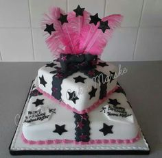 2 tiered parcel cake
