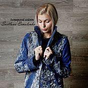 """Валяный жакет-куртка """"Изумрудные тени"""" – купить или заказать в интернет-магазине на Ярмарке Мастеров   Валяный пиджак , лёгкий и тёплый , изящный и…"""
