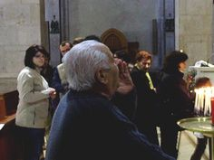 """Il sig. Primiano Di Liello intona la """"carrese di S. Pardo"""" nella Basilica Cattedrale di Larino: «Prim'arrivate...»"""