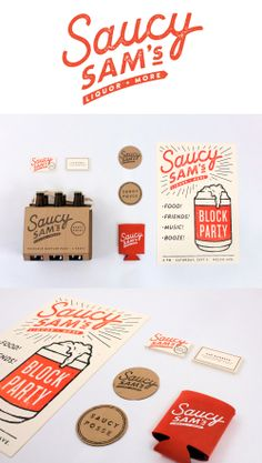 Saucy Sam's branding